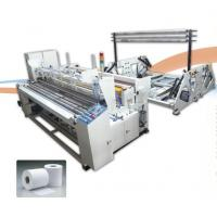 China SIEMENS PLC Toilet Paper Production Line , Toilet Paper Rewinding Machine 250m/ Min High Speed on sale