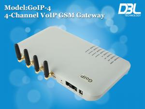 China 4 Channel VoIP SIP GSM Gateway With 4 SIM Card for Free Call , NAT Transversal on sale