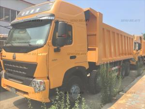 China Manual Heavy Duty Dump Truck for Unloading , EURO III Emission Standard 60T 8x4 Tipper Truck on sale