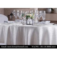 100% Cotton Hotel Linen Square White Table Cloth Wedding For Party