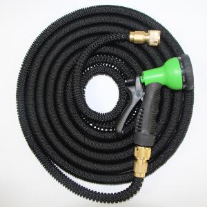 China Expandable Flexible Garden Water Hose with Brass Fittings and Garden Hose Nozzle Sprayer on sale
