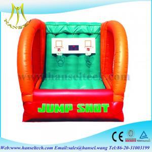 China Hansel Interesting basketball sports game,inflatable basketball game on sale