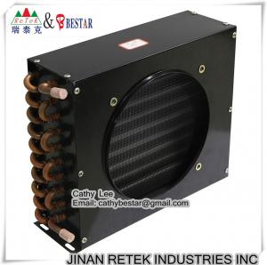 China Refrigeration Air Cooler Copper Tube Condenser on sale