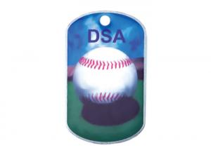 China Promotional Gift DAS Offset Printing Personalised Dog ID Tags, Aluminum with Metal Ball Chain on sale