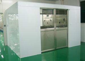 China Tunnel de système de douche d'air de Cleanroom d'industrie avec les portes coulissantes automatiques de la largeur 1800 on sale