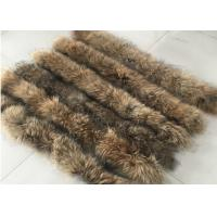 Detachable Natural Raccoon Fur Collar Hood Long For Men Jacket Coat 80cm