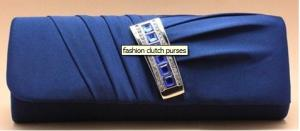 Quality fashion evening Ladies blue Clutch bag purses with Acrylic with satin material for sale