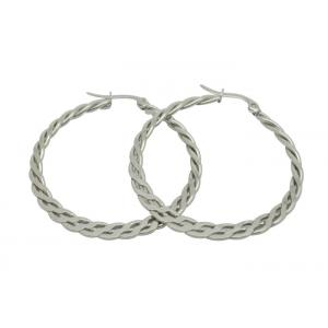Curb Cuban Link 304 Stainless Steel Earrings For Men Silver / Gold Plated