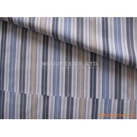 China Soft Handfeel Cotton Yarn Dyed Fabric  Poplin Plain Weave Stripe Shirt Fabric on sale