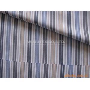 China Tela teñida suave de la camisa de la raya de la armadura llana del popelín de la tela del hilo de algodón de Handfeel on sale