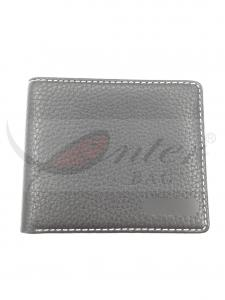 China Black Two Fold PU Leather Wallet For Men Durable Big Capacity 11.5*9.5 Cm on sale