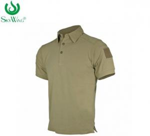 China Short Sleeve Cotton Polo Shirts With Company Logo Embroidery 180 Grams on sale