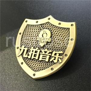 China Music company antique metal badges made to order, music company listed commemorative badges customized on sale