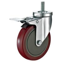Zinc Plate Industrial Dolly Wheels , Industrial Swivel Threaded Stem Casters