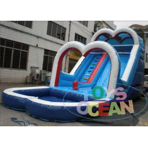China White Inflatable Backyard Water Slide For Pool / Safe Inflatable Sports Games on sale