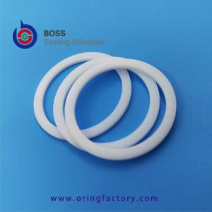 China White pure virgin PTFE o ring back-up ring food grade teflon backup o ring machined by cnc good quality BRT on sale