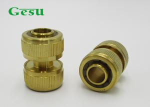 China Water Hose Mender Brass Garden Hose Connectors With 3/4 Inch PVC Hose Repair on sale