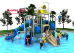 Outside Water Park Playground Equipment Slip Slide Easy To Maintain Long Life Span
