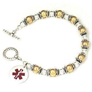 China Sterling Silver Rolo Chain Medical ID Bracelet on sale