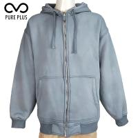 China Spring Mens Light Padded Jacket Basic Style , Mens Fleece Jacket With Fix Hoody on sale