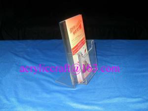 China Custom Factory Wholesale Handmade Clear Acrylic Brochure Holder on sale