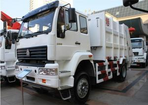 China 4x2 HOWO Garbage Collection Trucks 266HP Engine 10 Cubic Meter Volume on sale
