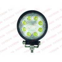 27 Watt Round Offroad LED Work Light ,  Flood Spot LED Vehicle Work Lights 3W*9pcs Epistar LEDs