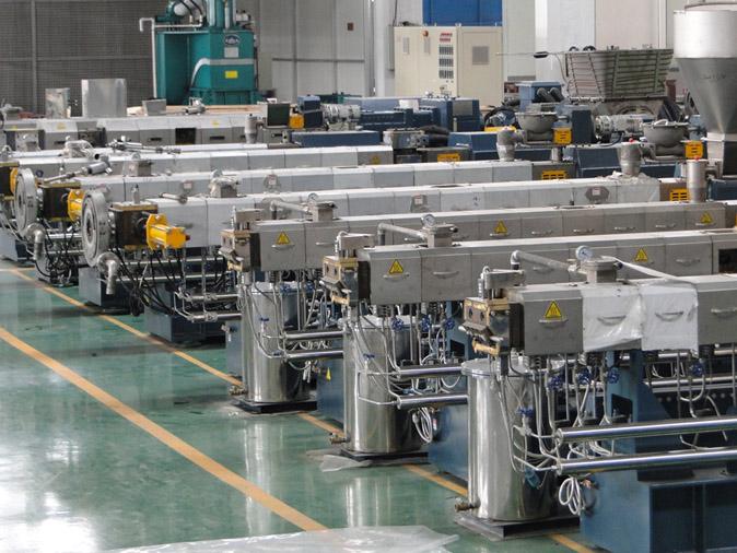 PP PE PET PC PBT ABS PVC Plastic Pellet Making Machine/Plastic Granules Twin Screw Extruder for Sale