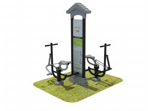 China Small Fitness Park Equipment , Playground Gym Equipment Customized on sale