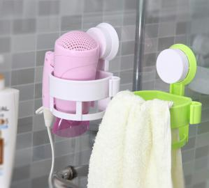 China Green ECO Friendly Hair Dryer Holder Plastic Bathroom Sets With LFGB FDA on sale