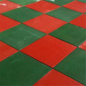 China Economic green red yellow rubber non-slip floor mat rubber flooring tile on sale