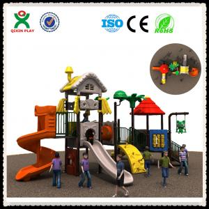 China Children Playground With Spiral Slides and Climbing Frame QX-015B on sale