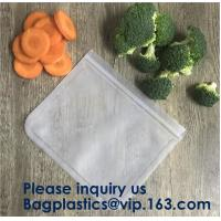 Food Snacks Extra Thick FDA Grade Leakproof Reusable PEVA Storage Bag,Seal Reusable PEVA Storage Bags ideal For Food Sna