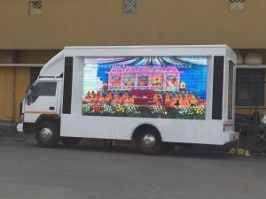 China Full Color P8 SMD 3535 1/4 Scan  Led Mobile Billboard on Vehicles INDIA on sale