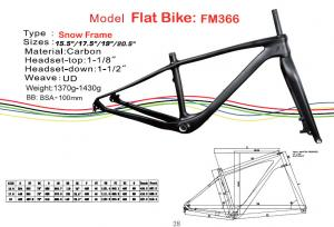 "Quality Fat Carbon Bike Frame of Internal Cable Routing in 15.5"" 17.5"" 19"" 20.5"" HT for sale"