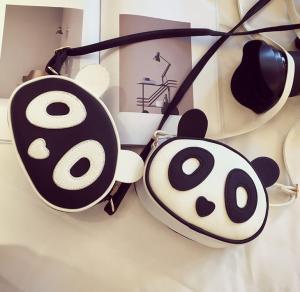 China Marea diagonal del bolso del paquete de la nueva del invierno de Japón y de la Corea del Sur del bolso panda linda femenina de la historieta on sale