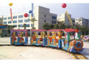 China Residential Area Kids Ride Along Train And Track / Sit On Train Set Anti UV on sale