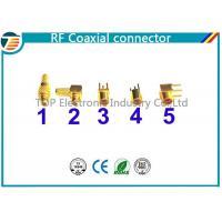China MMCX ohmios de ángulo recto del conector masculino de la encrespadura 50 para el cable coaxial RG316 on sale