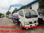 cheapest price high quality dongfeng RHD 95hp water sprinkling truck for sale, factory sale best price water carrier