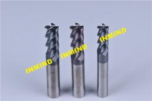 China 14mm / 16mm / 18mm HRC65 Cnc Router Bits , 45º Helix Angle End Milling Cutter on sale