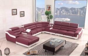 China Unique Leather Modular Sectional Sofa Modern Soft For Living Room on sale