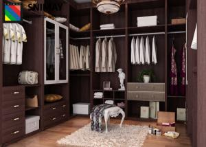 Custom Bedroom Furniture Dark Wood Wardrobe MDF Closet in Classic ...