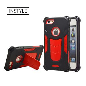 China High Rigid PC Plastic Mobile Phone Cell Phone Cases Cover with kickstand 2 in 1 for iPhone and for Samsung on sale