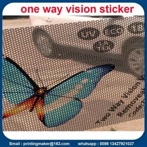 China Double-sided Two Way Vision Vinyl Window Sticker on sale