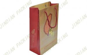 China Custom Printed Paper Shopping Bags With Handles, Gloss Coated Paper Gift Bags on sale