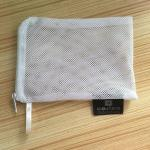 White Underwear Wash Bag , Mesh Laundry Wash Bags With Zipper / Handle
