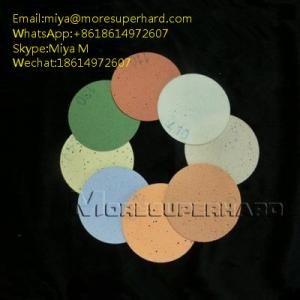 China Polyurethane (PU) Polishing Pad for glass LED precision optics miya@moresuperhard.com on sale
