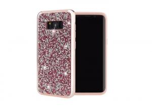 China PC + TPU S8/S9 plus Samsung Galaxy Phone Cases With Crystal Decoration on sale