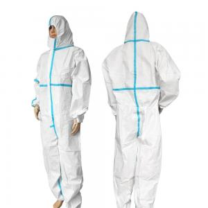 China CE FDA Approval  Disposable Protective Coverall Medical Grade  Flame Retardant on sale