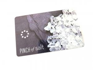 China Printing Hole Punched Die Cut PVC Business Cards / Plastic Key Tags on sale